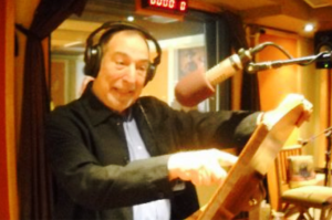 Dick Orkin in the booth.  Sherman Oaks, CA.