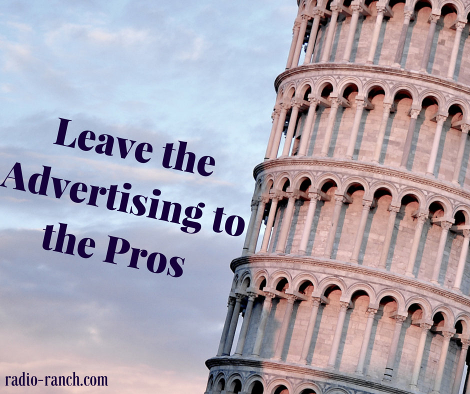 Leave the Advertising to the Pros