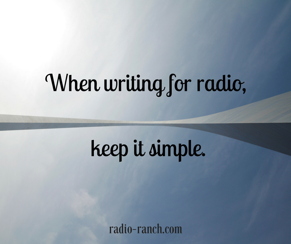 Comedy Radio Writing: Keep it Simple.